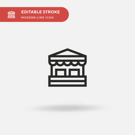 Box Office Simple vector icon. Illustration symbol design template for web mobile UI element. Perfect color modern pictogram on editable stroke. Box Office icons for your business project Ilustração