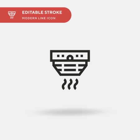 Smoke Detector Simple vector icon. Illustration symbol design template for web mobile UI element. Perfect color modern pictogram on editable stroke. Smoke Detector icons for your business project Ilustração