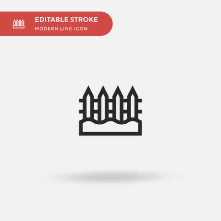 Fence Simple vector icon. Illustration symbol design template for web mobile UI element. Perfect color modern pictogram on editable stroke. Fence icons for your business project