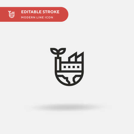 Factory Simple vector icon. Illustration symbol design template for web mobile UI element. Perfect color modern pictogram on editable stroke. Factory icons for your business project