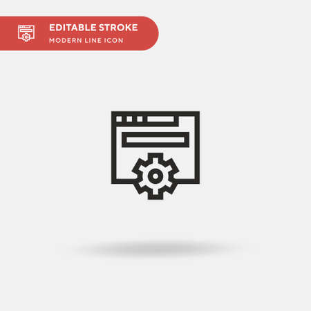Browser Simple vector icon. Illustration symbol design template for web mobile UI element. Perfect color modern pictogram on editable stroke. Browser icons for your business project 向量圖像