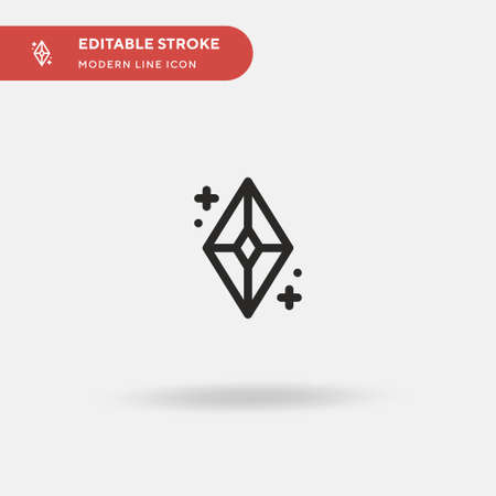 Gemstone Simple vector icon. Illustration symbol design template for web mobile UI element. Perfect color modern pictogram on editable stroke. Gemstone icons for your business project