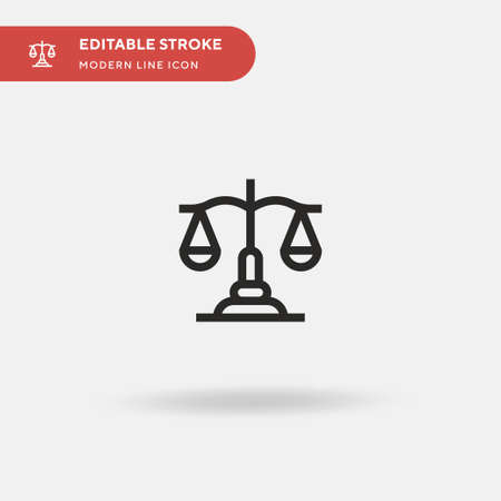 Balance Simple vector icon. Illustration symbol design template for web mobile UI element. Perfect color modern pictogram on editable stroke. Balance icons for your business project
