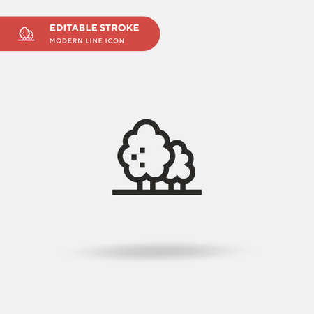 Trees Simple vector icon. Illustration symbol design template for web mobile UI element. Perfect color modern pictogram on editable stroke. Trees icons for your business project