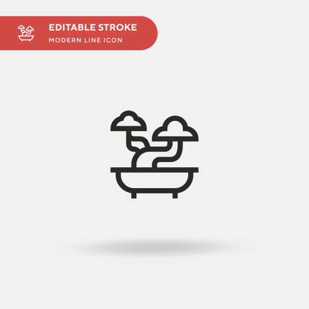 Bonsai Simple vector icon. Illustration symbol design template for web mobile UI element. Perfect color modern pictogram on editable stroke. Bonsai icons for your business project Stock Illustratie