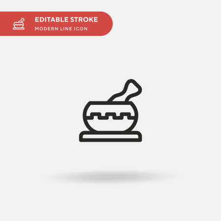 Singing Bowl Simple vector icon. Illustration symbol design template for web mobile UI element. Perfect color modern pictogram on editable stroke. Singing Bowl icons for your business project