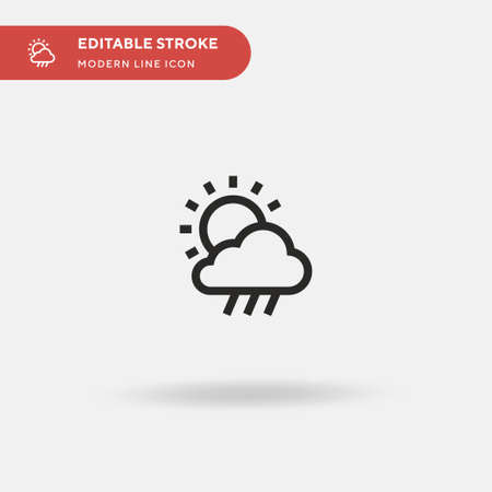 Rainy Day Simple vector icon. Illustration symbol design template for web mobile UI element. Perfect color modern pictogram on editable stroke. Rainy Day icons for your business project