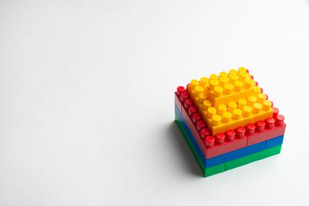 Kids development, Building blocks and construction Banque d'images - 122720103
