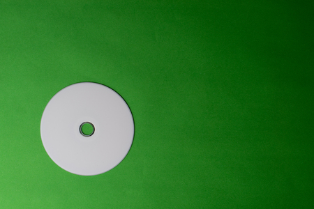 Empty DVD CD disk on colorful background Stock Photo