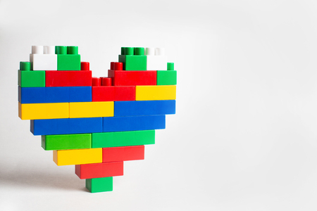 Kids development, Building blocks and construction, Alphabet and heart
