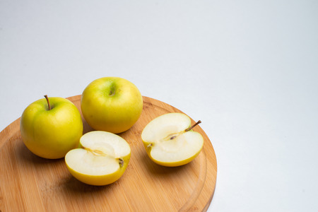 Fruits for health, Fresh fitness fruits, Yellow apples