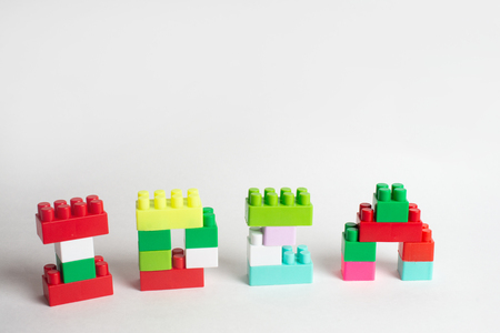 Kids development, Building blocks and construction, Alphabet and heart Banque d'images - 123070395