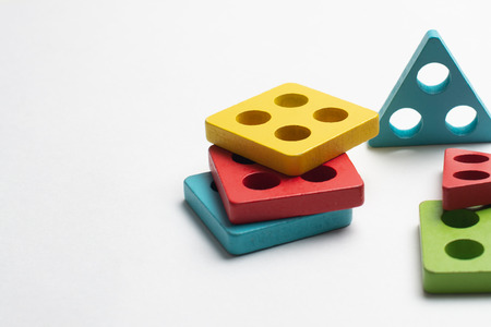 Colorful developing toy for children on white background Banque d'images - 123021042