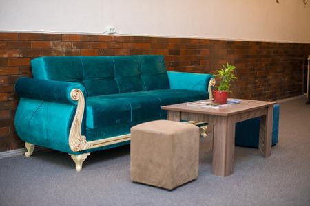 Hotel sofa, Sofa with coffee table, Sofa with table, Hotel lobby table