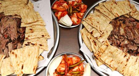 Traditional Denizli kebab in Turkish kitchen