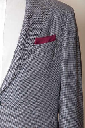 Mens suits: Jacket design and pocket square