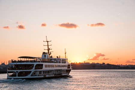 Sea transportation in istanbul ferry