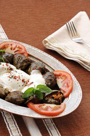 Beef mince stuffed chard aka turkish leaf wrap