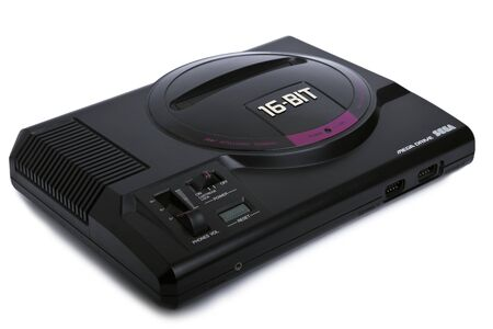 A Sega Mega Drive Video Game Console From The 1990's. Royalty Free ...