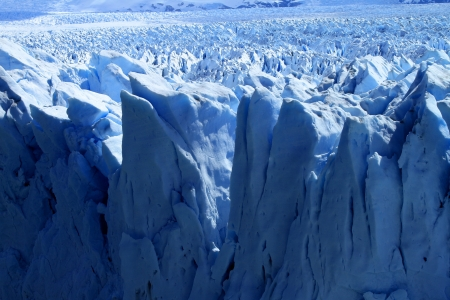 A view of a glacier in Patagonia, South America. Stock Photo