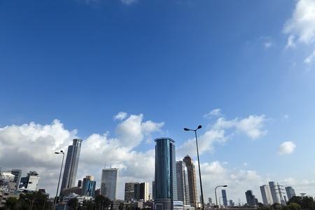 ramat aviv: Ramat-Gan, Israel - June 28th, 2011: Skyline of downtown Ramta-Gan and Tel-Aviv, featuring the famous Israeli diamond center and the financial district surrounding it.