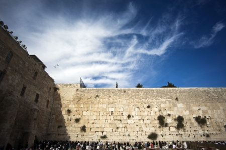 jerusalem: Prayers at the Wailing Wall, one of the most sacred places to the Jewish religion
