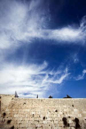 Jednym z najbardziej świętych miejsc dla narodu żydowskiego - Ściana Płaczu w starej części Jerozolimy, w Izraelu.