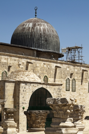 al aqsa: Al-Aqsa Mosque, the third holiest site in Sunni Islam, located in the old city of Jerusalem, Israel. Stock Photo
