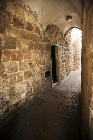 An alley in the Jewish quarter of the old city of Jerusalem, Israel  photo