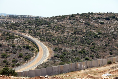 occupied: A view of the wall of separation deviding between Palestine and the occupied Palestinian territories in Israel.