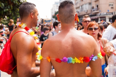 parade: Tel-Aviv, Israel - June 7, 2013: People partying at the annual gay parade in the streets of Tel-Aviv.