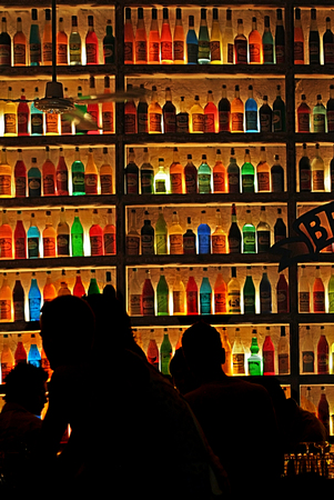 after the party: Colorful drinks bar
