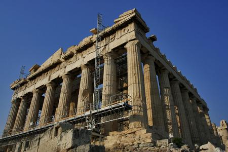 Panteon na Akropolu w budowie Zdjęcie Seryjne - 1649847