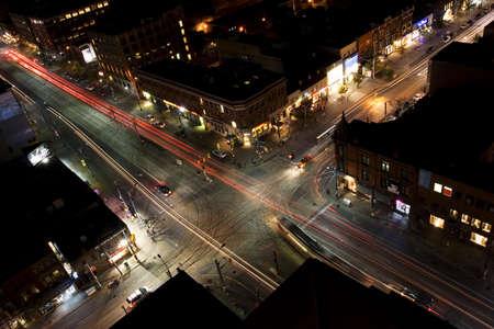 restless: Traffic flow at night in Toronto