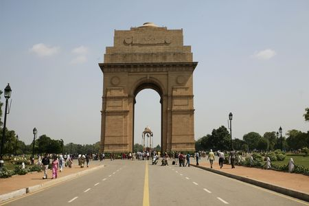 Gate of India in New Delhi photo