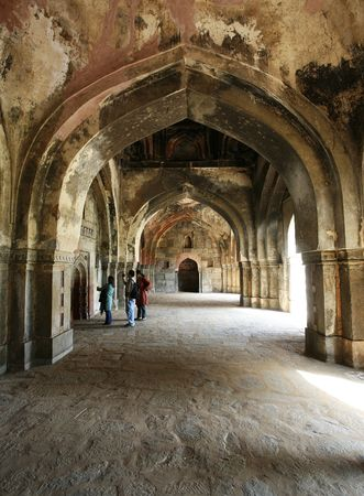 tumb: Humayuns Tumb Mosque Inside Stock Photo