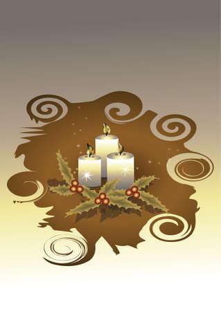 christmas candles Stock Vector - 3801070