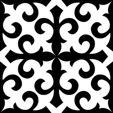 Seamless.Kazakhstan traditional embroidry;Vektor.