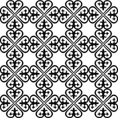 Kazakhstan seamless embroidery. Vector illustration. Illustration