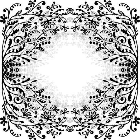 bloemen frame met ruimte voor tekst