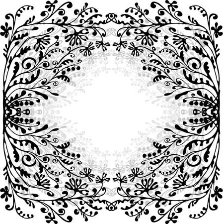 floral frame with space for text Stock Vector - 7463944