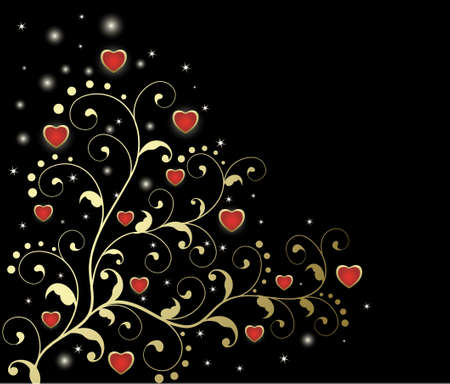 abstract floral heart with place for your text  Vector