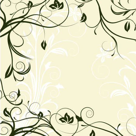 floral frame with space for text