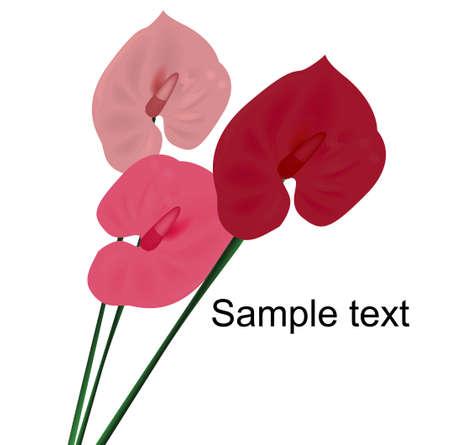 kaart ontwerp met gestileerde bloem; uitnodiging voor feest dagen en gebeurtenissen in het leven, met ruimte voor uw tekst  Stock Illustratie