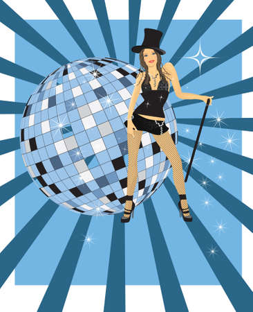 girl from cabaret  Vector