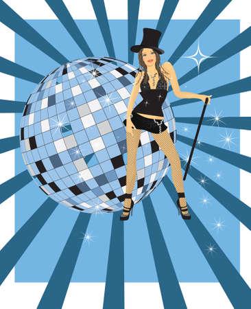 Meisje van cabaret  Stockfoto - 7454224