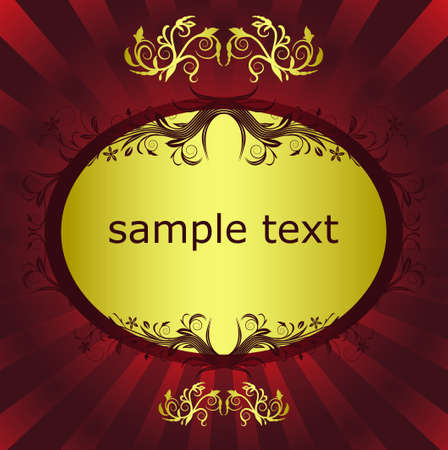 abstract floral background with place for your text Stock Vector - 7454059