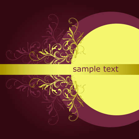 abstract floral background with place for your text Stock Vector - 7454038