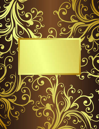 abstract floral background with place for your text  Vector