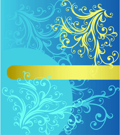 abstract floral background with place for your text Stock Vector - 7454037